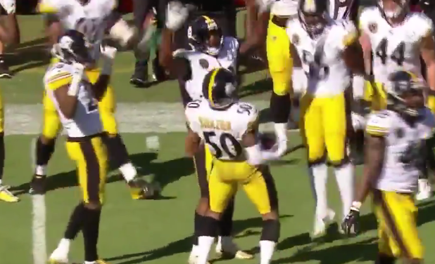 Ryan Shazier mocks Ray Lewis by doing his signature dance after INT (VIDEO)